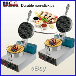 2pcs Electric Waffle Maker Commercial Double Waring Kitchen Heavy Steel Machine