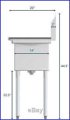 3 Compartment Stainless Steel Commercial Kitchen NSF Sink 36 3 Bay Sink
