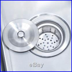 3 Compartment Stainless Steel Kitchen Commercial Sink Heavy Duty Withdrain pipe