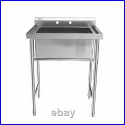 30 Stainless Steel Utility Commercial Square Kitchen Sink ANTI-RUST DESIGN