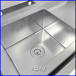 30 Stainless Steel Utility Commercial Square Kitchen Sink Silver Versatile New