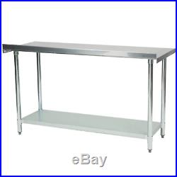 30 X 60 Stainless Steel Work Prep Table Commercial Kitchen Backsplash with Casters