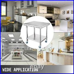 30 x 24 Stainless Steel Work Table Kitchen/Bar/Restaurant/Laundry Commercial