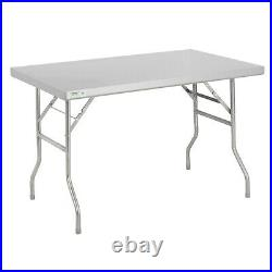30 x 48 Commercial Stainless Steel Folding Work Prep Tables Open Kitchen NSF
