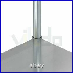 30 x 48 In Stainless Steel Prep Work Table NSF Food Kitchen Commercial Durable
