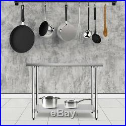 30 x 48 Stainless Steel Food Prep & Work Table Commercial Kitchen Worktable