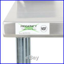 30 x 72 Stainless Steel NSF Commercial Kitchen Work Table with 4 Backsplash