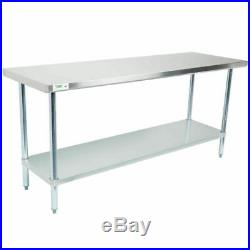 30 x 72 Stainless Steel NSF Commercial Kitchen Work Table with Undershelf
