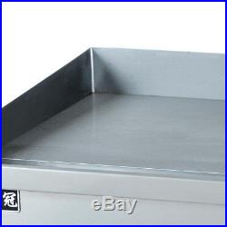 3000w Commercial Electric Griddle Countertop Kitchen Hotplate Stainless Steel