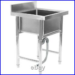 304 Stainless Steel Kitchen Sink for Commercial Square Sink 23.5 inch Wide