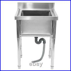 304 Stainless Steel Utility Sink for Commercial Kitchen Square Sink 23.5