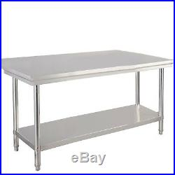 30x 48 Stainless Steel Commercial Kitchen Work Food Prep Table Desk Two-Tier