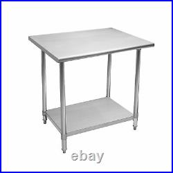30x60 Stainless Steel Commercial Kitchen Work Table with Undershelf