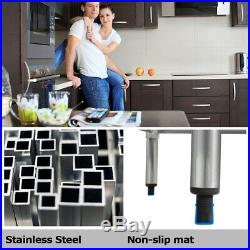 30x60 Stainless Steel Kitchen Work Table Commercial Kitchen Restaurant table
