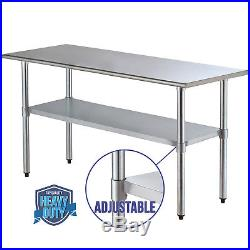 30x72 Work Table Food Prep Stainless Steel Commercial Kitchen Restaurant