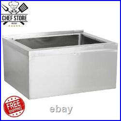 32 x 24 x 11 1/2 Stainless Steel Bowl Floor Mop Sink Commercial Kitchen