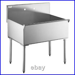 36 X 24 X 14 Bowl Stainless Steel Commercial Utility Prep 36 1 Kitchen Sink