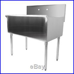 36 X 24 X 14 Bowl Stainless Steel Commercial Utility Prep 36 1 Sink Kitchen