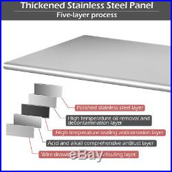 36 x 24 NSF Stainless Steel Commercial Kitchen Prep & Work Table with 4 Casters