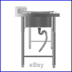 39 Stainless Steel Square Utility Commercial Sink for Washing Kitchen Room USA