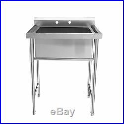 39 Stainless Steel Utility Commercial Square Kitchen Sink for Washing Room US