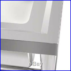 39 Wide 1/3 Compartment Stainless Steel Commercial Bar Sink Kitchen Sink