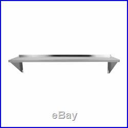 3PCS Commercial Kitchen Stainless Steel Wall Shelving 14 x 60 Shelf DR