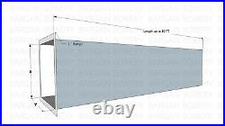 4 FT 14 X 14 Weld 18 Gauge Steel Grease Duct Commercial Kitchen Exhaust System