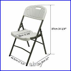 4PCS Plastic Folding Chairs Wedding Party Chair Commercial 350-Pound Capacity