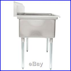 53 2-Compartment Restaurant Kitchen Stainless Steel Commercial Pot Prep Sink