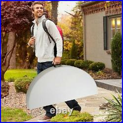 53 Portable Folding Round Dining Table Commercial Banquet Picnic Camping White