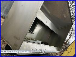 6 Foot Exhaust Hood Vent Commercial Restaurant Kitchen Stainless Steel Used