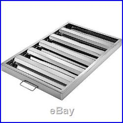 6 PACK Commercial Kitchen Stainless Steel Exhaust Hood Vent Grease Filter Baffle