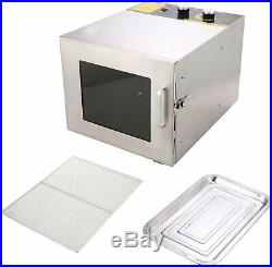 6 Tray Stainless Steel Commercial Industrial Home Food Fruit Dehydrator Kitchen