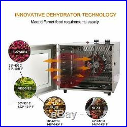 6-Tray Stainless Steel Commercial Industrial Home Food Fruit Dehydrator Kitchen