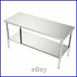 60x 24 Commercial Stainless Steel Work Table Food Prep Kitchen Work Bench USA