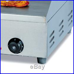 72.7cm Commercial Electric Griddle Countertop Kitchen Hotplate Stainless Steel