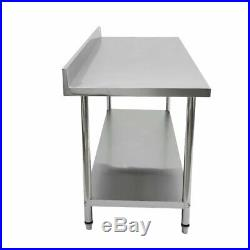 72 x 30 Stainless Steel NSF Commercial Kitchen Prep Work Table with Backsplash
