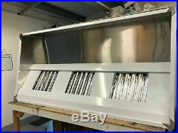 7ft Stainless Steel Commercial Kitchen Canopy Cooker Hood Extraction Hood