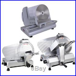 8.5/10/12 Blade Commercial Meat Slicer Deli Veggie Cheese Food Cutter Kitchen