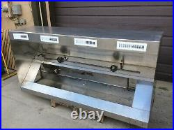 8 Foot Exhaust Hood Vent Commercial Restaurant Kitchen Stainless Steel Used