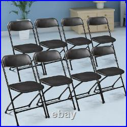 8 PCS Plastic Folding Chairs Set Commercial Wedding Party Restaurant Chairs New