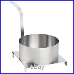 8 Stainless Steel Round Fried Funnel Cake Mold Ring Commercial Kitchen Tool NEW