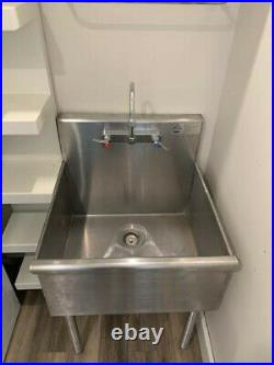 Advance Tabco 4-1-24 One Compartment Stainless Steel Commercial Sink 24