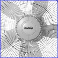 Air King 18-Inch 1/20 HP 3-Speed Commercial-Grade Oscillating Wall Fan, White