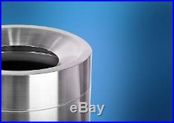 Alpine Industries 50 Gallon Stainless Steel Open Top Commercial Indoor Trash Can