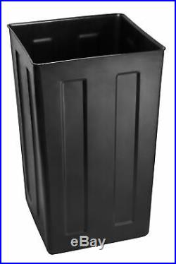 Alpine Industries Steel 40 Gallon Outdoor Recycle Bin Commercial Trash Can