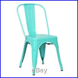 Aqua Tolix Metal Stack Industrial Chic Dining Chair Commercial Quality 1, 2 Or 4