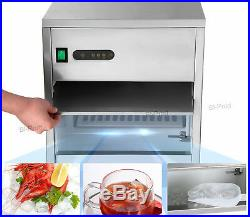 Auto Commercial Ice Maker Machine Kitchen 60LB/day Countertop Stainless Steel