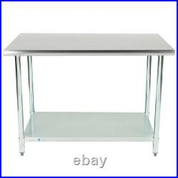 CMI 30 x 60 18 Gauge 430 Economy Stainless Steel Commercial Kitchen Work Table